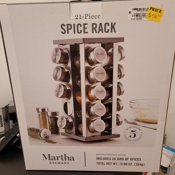 Martha Stewart spice rack 21piece